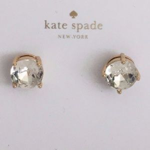 BACK BY DEMAND* NWT KATE SPADE Clear Gumdrop Studs